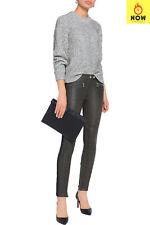 RRP €1020 BELSTAFF Trousers Size 36 / 2XS Contrast Leather Biker Knee Zip Fly