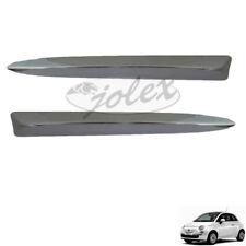 Chromleiste vorne neben Emblem rechts+links Set Satz Paar Fiat 500 07-15 NEU
