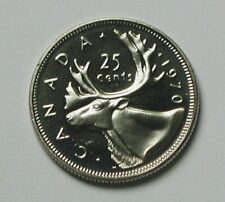 1970 CANADA Elizabeth II Coin - 25 Cents - UNC lustre (from mint set) - caribou