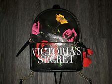 Victoria's Secret mini Backpack  NEW BLACK floral/logo