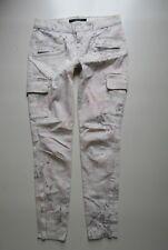J BRAND Skinny Cargo Cream Wash Floral Print Jean - Size 25