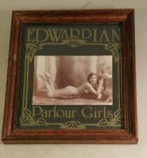 edwardian parlour girls framed picture 8x9