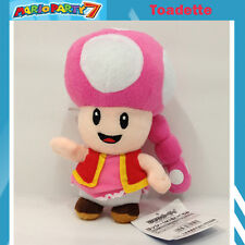 New Super Mario Plush Toadette Female Toad Soft Toy Stuffed Animal Doll 7""