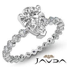 Pera Diamante Comunes Pinza Eternidad Anillo de Compromiso GIA i SI1 Platino 950