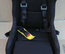 HONDA CIVIC BLACK 4 POINT RACING SAFETY SEAT BELT 2' STRAP NYLON HARNESS BUCKLE