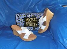 Mootsies Tootsies, Womens White Comfortable High Heel Platform Sandal, Size 10 M