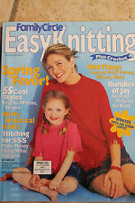 Family Circle Easy Knitting Crochet SS/01 Layette Kids Lacy Poncho Afghan Capele