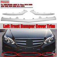 3Pc Avant Pare-Choc Inférieur Chrome Bordure Moulure pour Mercedes W212 Classe E
