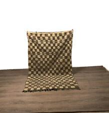 Checkred Rug Vintage Hallway Teppich Carpet Handmade Kilim Area Modern 73X44 cm