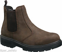 Tuffking 9552 S1P Brown Chelsea Dealer Steel Toe Cap Safety Boots Work Boot PPE