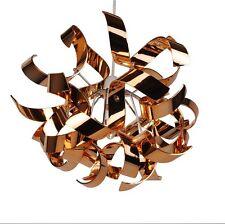 Modern Easy Fit  Copper Ceiling Light Shade Swirl Ribbon Design Bedroom NEW