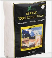 """52 Large Ultra Soft Absorbent 100% Cotton Terry Towel Cloths 14x17"""" Car Cleaning"""