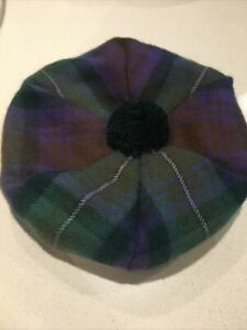 Brushed Lambswool Tammy Hat Isle Of Sky Tartan Made in Scotland by Lochcarron