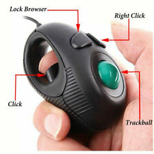 Off-table Finger Hand Held USB Wired Mini Trackball Mouse