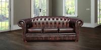 Chesterfield Royale 3 Seater Genuine 100% Leather Handmade Sofa