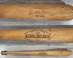 "Willie Mays Personal Model Vintage Adirondack 212S Wood Baseball Bat 31"" USA"