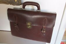 Vintage Tatra England Brown Leather school satchel briefcase document bag