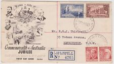 (KU22) 1952 AU FDC 4set commemorative AU jubilee registered cover 4765 (A)