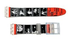 Swatch Replacement 17mm Plastic Watch Band Strap Movie Tape Design