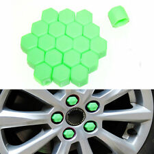 20 Silicone Caps Car Wheel Hub 17mm Nuts Rims Fit Peugeot 207 307 407 Green
