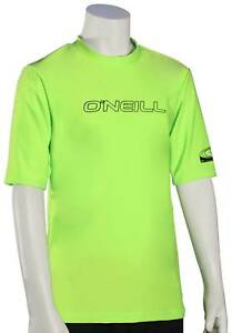 O'Neill Kid's Basic Skins SS Surf Shirt - Lime - New