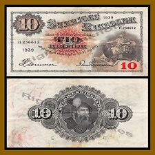 Sweden 10 Kronor, 1934-1940 P-34 Cir