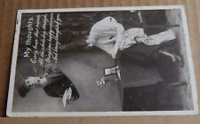 """Postcard WW1  Patriotic romance Card """" My Thoughts Posted 1915"""