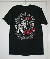 KING KEROSIN T-SHIRT MENS SANTA SANGRE DAY OF THE DEAD  SIZE S   NEW