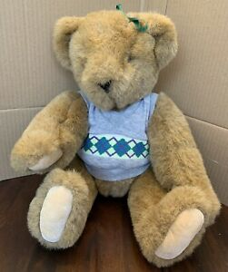 Vintage 1994 The Vermont Teddy Bear Company Brown Jointed Teddy Bear Plush