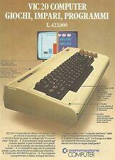 X0631 Computer Commodore Vic 20 - Pubblicità del 1983 - Vintage advertising