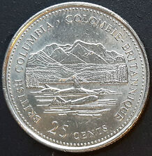 CANADA 1992 CANADIAN QUARTER 25 Cents BRITISH COLUMBIA - COLOMBIE BRITANNIQUE.