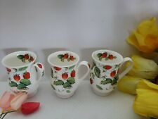 Alpine Strawberry by Roy Kirkham - Eleanor Mug - Set of 3