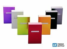 6 x Cigarette Case Box Made of Aluminium Metal Various Colours for 20er Pack