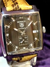 Tag Heuer Monaco Automatic Brown Diamonds Ref WW2116 Skeleton Back REDUCE 2 Sell