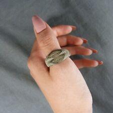 Genuine Massive Roman Bronze Ring Laurels Decor - ca.3-4 th Century AD