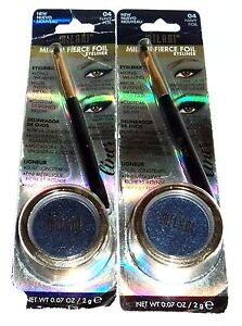 2 MILANI Fierce FOIL Eyeliner Intense Metallic foil Finish NAVY foil 04 NIP