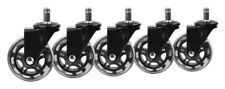 "Slipstick CB690 3"" Roller Blade Office Chair Wheels (Set of 5) Black"