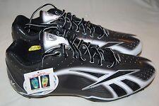Reebok NFL Burner Speed LT 5/8 M4 Football Cleats, Black White Silver Sz 13.5