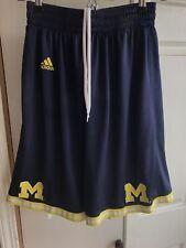 Adidas Michigan Wolverines NCAA Basketball RARE Maize Baskeyball Shorts Medium