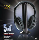 2X 5 In 1 Wireless Stereo Headphone Earphone Headset for MP3 PC TV FM iPod PC