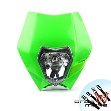 Streetfighter Dirt Bike Headlight Head Lamp Universal Fairing Green For Kawasaki