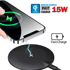 Qi Fast Wireless Charger Charging Pad for iPhone 12/mini/11/Pro/Max/Galaxy S20