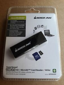 New IOGEAR SuperSpeed USB 3.0 SD/Micro SD Card Reader Writer Model #: GFR304SD