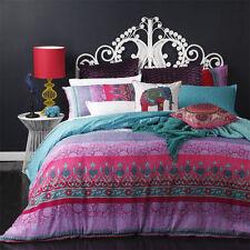 King Bed Doona Quilt Cover Set SARI MAGENTA Boho Chic Platinum Logan and Mason