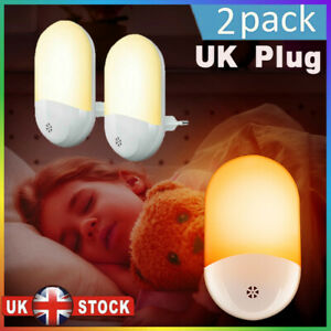 4P Automatic LED Night Light Plug in Energy Saving Dusk Dawn Sensor Kids Light