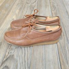 VTG Made In USA Quoddy Brown Lace Up Two Eye Leather chukka shoes 11 Men