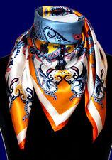 89023 LORENZO CANA seidentuch 90 x 90 cm raso 100% Seta Paisley Hijab STOLA