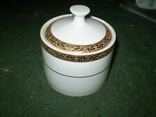 NEW TRADITIONS SUGAR BOWL AND LID GOLD ENCRUSTED