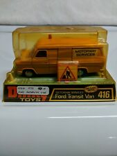 DINKY TOYS 416 FORD TRANSIT VAN MOTORWAY SERVICES YELLOW MADE IN ENGLAND