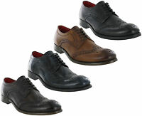 Base London Coniston Brogues Leather 5 Eye Formal Lined Lace Up Mens Shoes